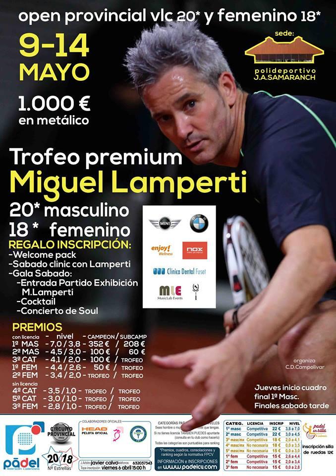 Trofeo Premium Miguel Lamperti