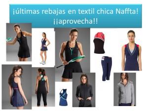 últimas rebajas en textil chica Naffta!